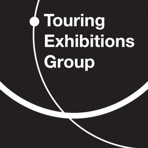 touring exhibitions group black and white logo