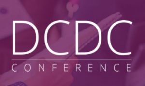 purple DCDC logo with white font